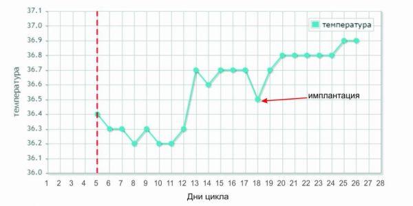 График изменения базальной температуры