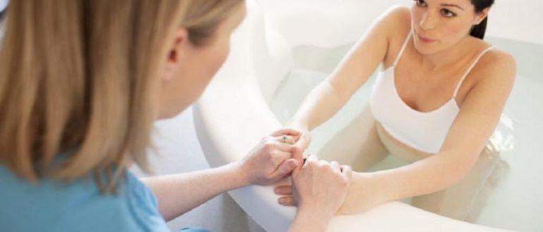 Если беременная совершенно здорова, то при желании она может выбрать для себя водные роды.