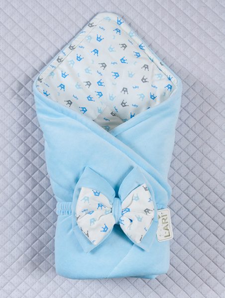 голубой конверт для новорождённого