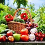 Свежие овощи, фрукты, ягоды, зелень