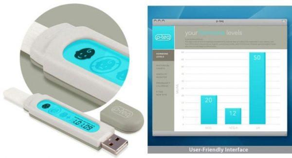 Цифровой тест на беременность и информация, которая выводится на экран компьютера