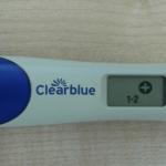 Электронный тест на беременность, который показывает 1 - 2 недели беременности