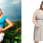 Беременная стройная и полная женщина