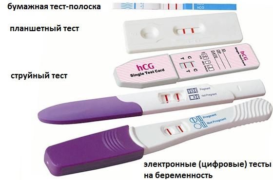 Разновидности тестов на беременность