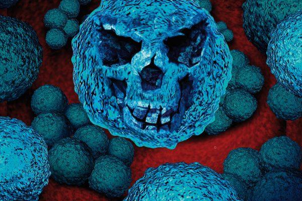микроб в окружении лейкоцитов на схеме