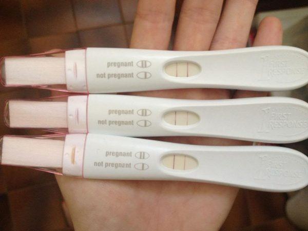 Тесты на беременность с положительным результатом