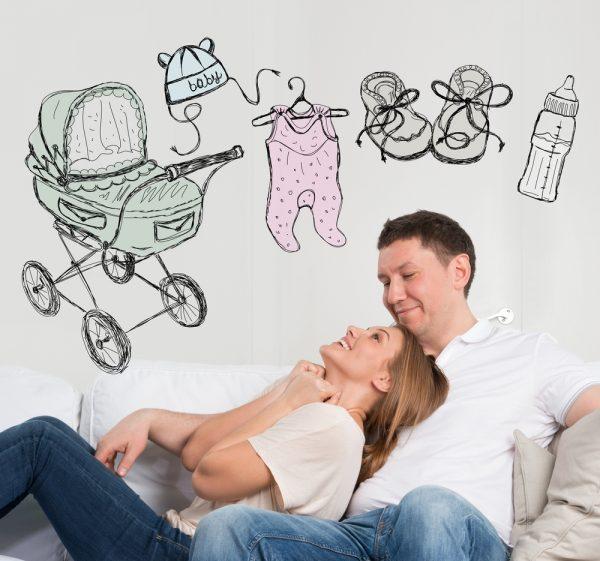 Будущие родители мечтают о ребёнке