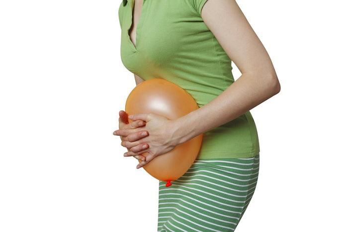 Признаком является вздутия беременности ли живота