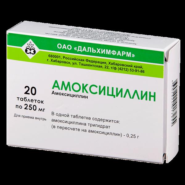 Амоксициллин в таблетированной форме