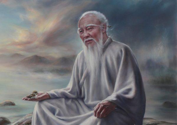 Восточный мудрец сидит и размышляет