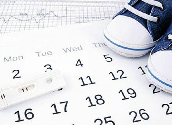 Календарь, тест на овуляцию и детские кеды