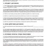 Страница 1 срочного трудового договора